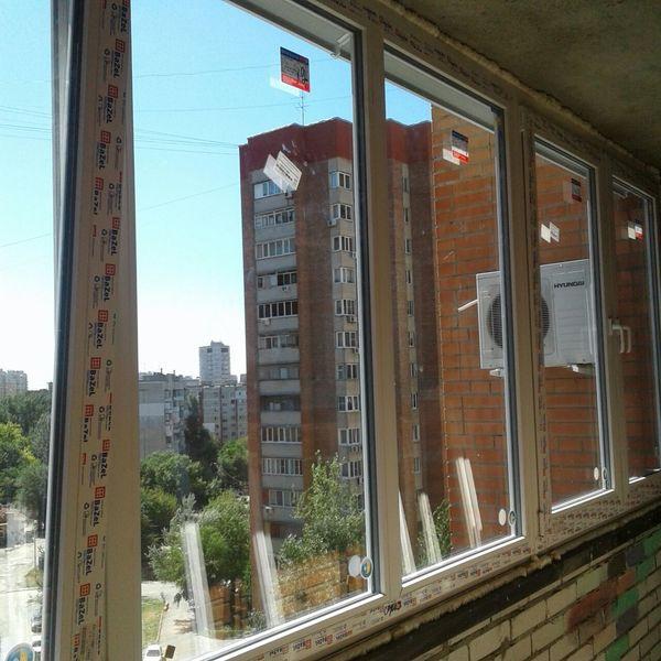 Остекление балкона немецкими окнами kbe 58 в городе ростов-н.