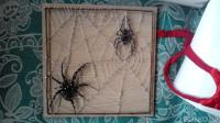 Поделка паук на паутине