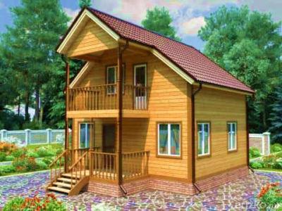 Дома из бруса с балконом под ключ - проекты и цены, готовые .