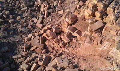 осколки бетона