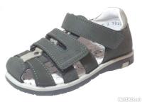 99f7197a9 Модель: 322048-21 серый Туфли летние детские натуральная кожа